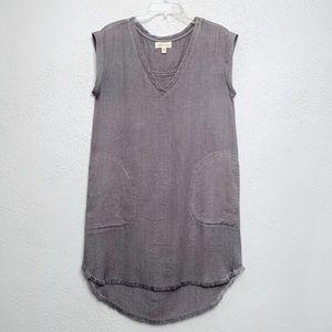 Cloth & Stone Frayed Hem Gray Dress Size Small